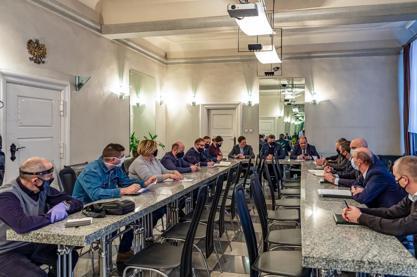 Prezydent spotkał się z mieszkańcami Miechowic w sprawie szkód górniczych