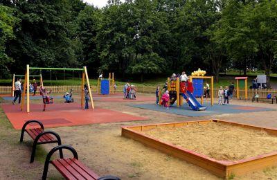 Plac zabaw w Parku Amendy w Łagiewnikach