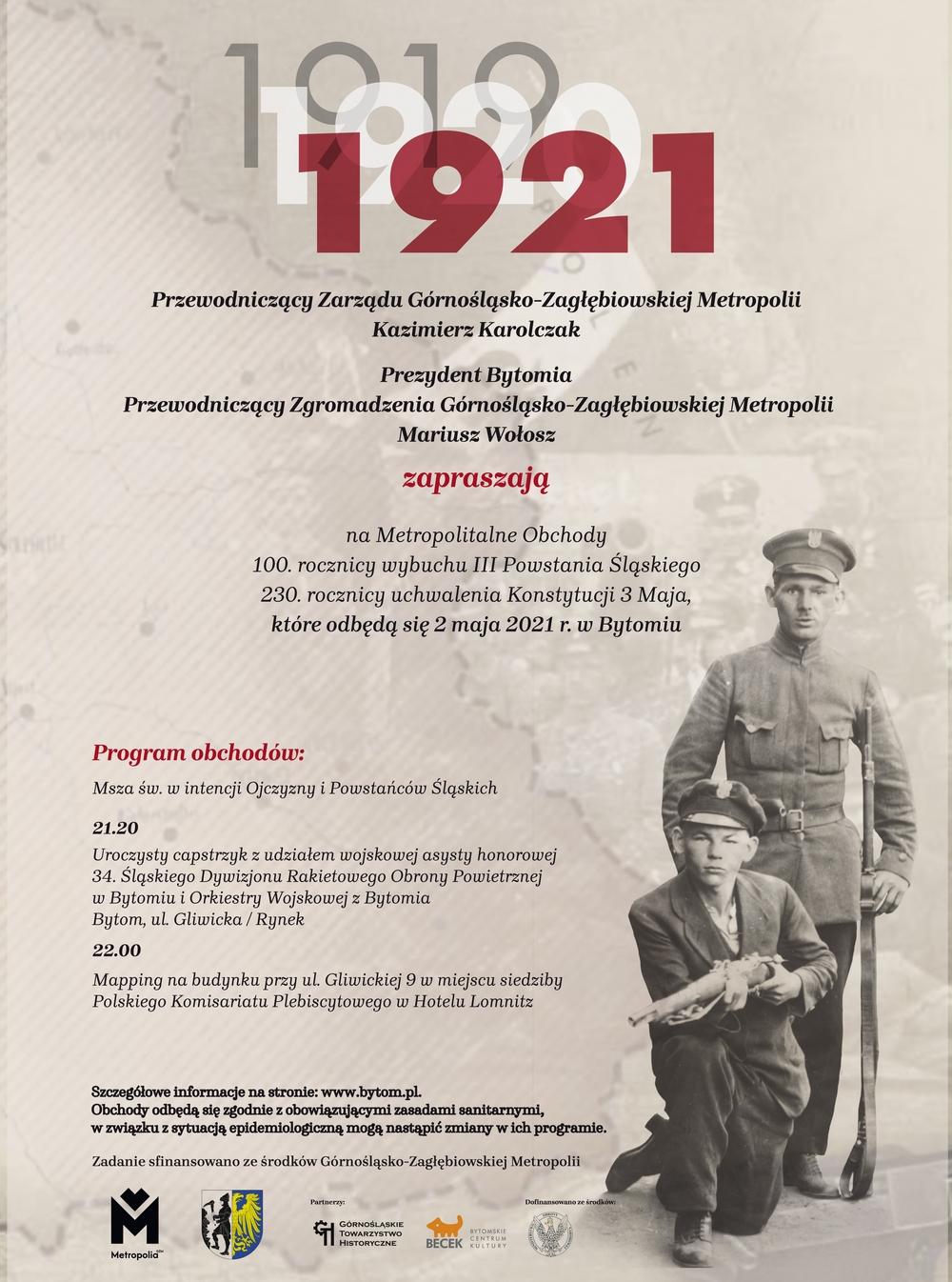 Metropolia świętuje w Bytomiu 100. rocznicę III Powstania Śląskiego