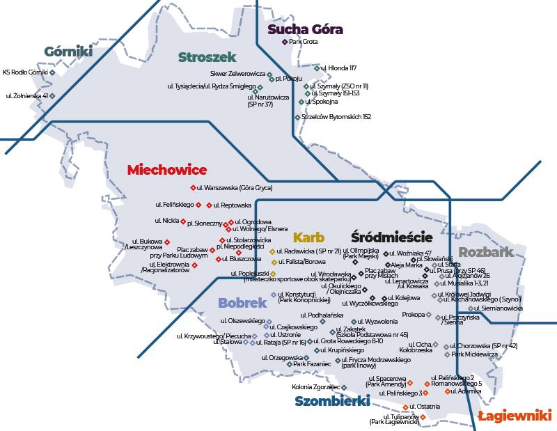 Place zabaw mapa